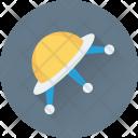 Ufo Saucer Spaceship Icon