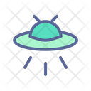 Alien Space Spacecraft Icon
