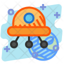 Ufo Alien Invansion Icon