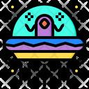 Ufo Aerospace Alien Icon