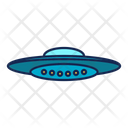 Ufo Spaceship Galaxy Icon