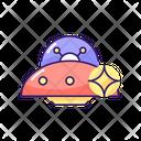 Ufo Spaceship Alien Icon