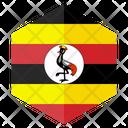Uganda Flag Hexagon Icon