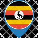Uganda Flag World Icon