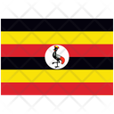 Flag Country Uganda Icon