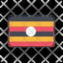 Uganda Flag Country Icon