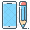 Ui Design Mobile Phone Pencil Icon