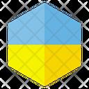 Ukraine Country Flag Icon