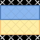 Ukraine Flag Country Icon