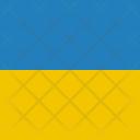 Ukraine Flag World Icon