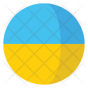 Ukraine Flag Country Icon