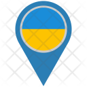 Ukraine Location Pointer Icon
