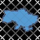 Ukraine Map Country Icon