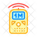 Ultrasonic Ruler Measuring Icon