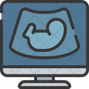 Ultrasound Baby Scan Health Care Icon