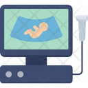 Ultrasound Pregnancy Hospital Icon