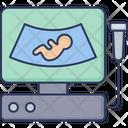 Ultrasound Pregnancy Hospital Icon