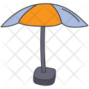 Sunbed Beach Umbrella Icon