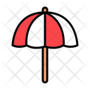 Umbrella Protection Sun Protection Icon