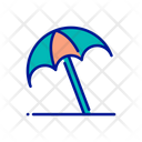 Umbrella Beach Umbrella Sun Protection Icon