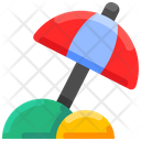Umbrella Vacation Summer Icon
