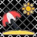 Umbrella Beach Vacation Icon
