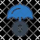 Umbrella Dollar Insurance Icon