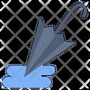 Closed Umbrella Wet Icon