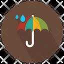 Raindrops Tripping On Umbrella Icon