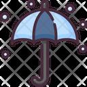 Umbrella Snowing Bad Weather Icon