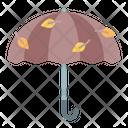 Umbrella Wind Leaves Icon