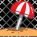 Umbrella Sand Hot Icon