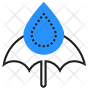 Umbrella Rain Drops Icon