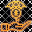 Umbrella Coin Dollar Icon