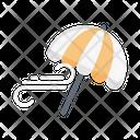 Umbrella Wind Spring Icon