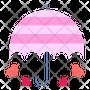 Umbrella Protection Heart Icon