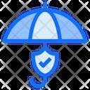 Umbrella Shield Check Icon