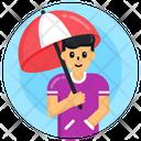 Umbrella Canopy Sunshade Icon