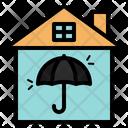 Umbrella Superstition In House Icon
