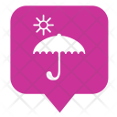 Sun Rain Umbrella Icon