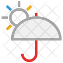 Sun Umbrella Weather Icon