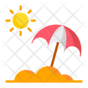 Umbrella And Sun Umbrella Sun Icon