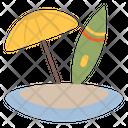 Umbrella Surfing Island Icon