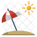 Beach Umbrella Sea Icon