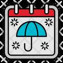 Umbrella Protect Calendar Icon