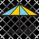 Umbrella Chair Icon