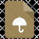 Umbrella file Icon