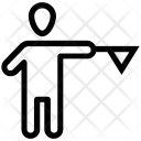 Umpire Referee Flag Icon
