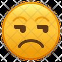 Unamused Face Emoji Emoticon Icon