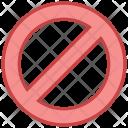 Unavailable Block Denied Icon